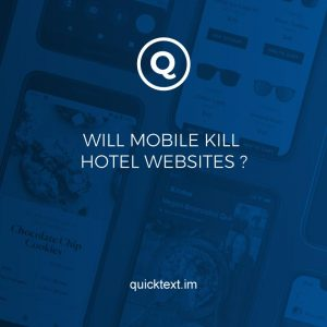 Will mobile kill hotel websites?