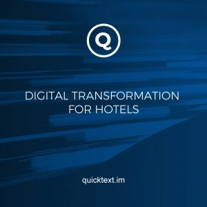 What does digital transformation mean for hotels?