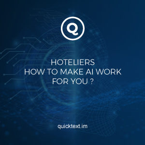Artificial intelligence in the hotel industry: How to make AI work for you