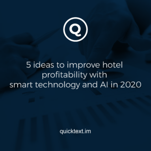 5 ideas to improve hotel profitability with smart technology and AI in 2020