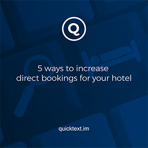 5 ways to increase direct bookings for your hotel
