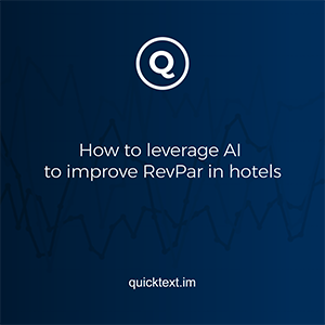 How to leverage AI to improve RevPar in hotels