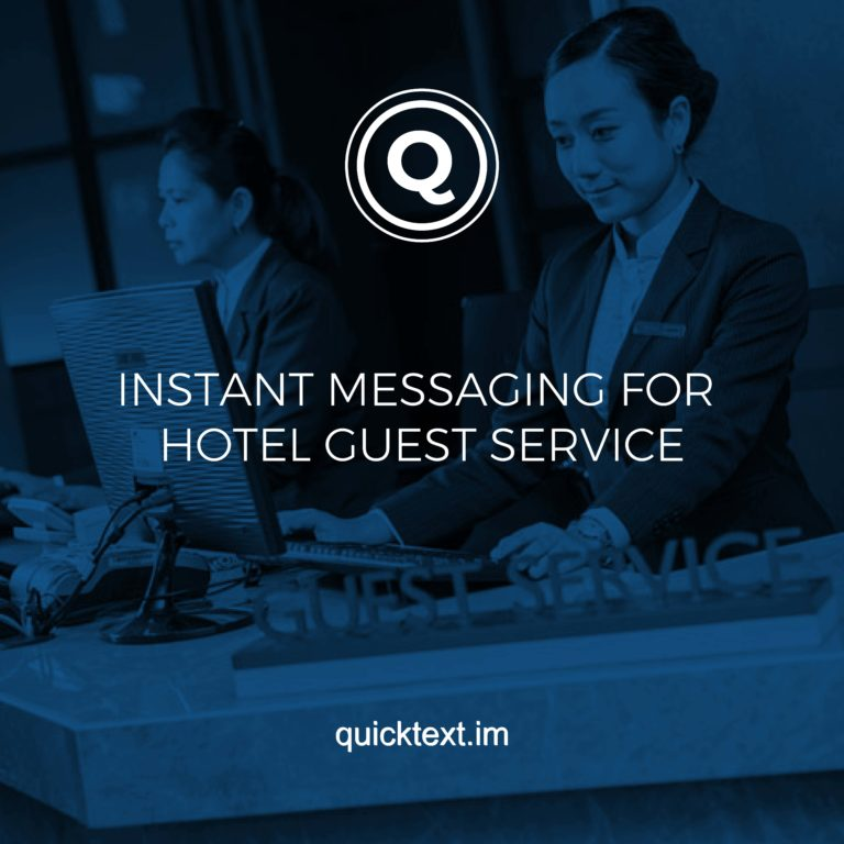 Instant messaging for hotel guest service
