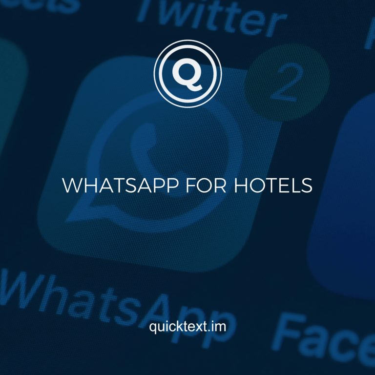 WhatsApp for hotels