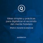 digitalizar el reccorido el cliente