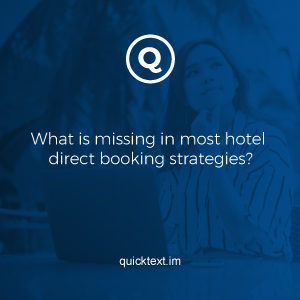 What is missing in most hotel direct booking strategies?