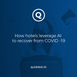 How hotels leverage AI to recover from COVID -19