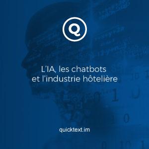 L'IA, les chatbots et l'industrie hôtelière