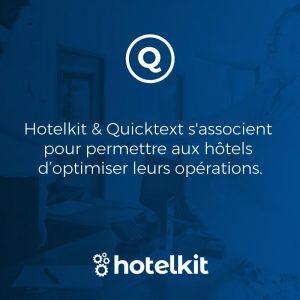 Hotelkit & Quicktext s'associent pour permettre aux hôtels d'optimiser leurs opérations