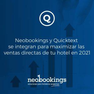 Neobookings y Quicktext anuncian una asociación estratégica