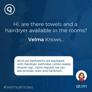 Information about rooms facilities provided by chatbot AI