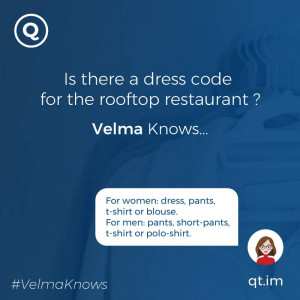 Information about hotel dress code policy provided by chatbot AI