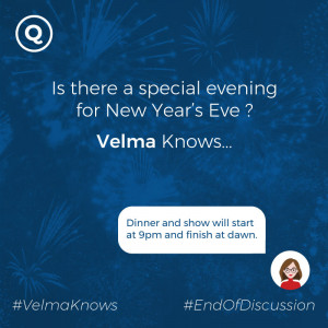 New year hotel events delivered by chatbot for hotels